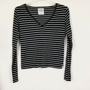 One Teaspoon Striped Linen Casual Long Sleeve